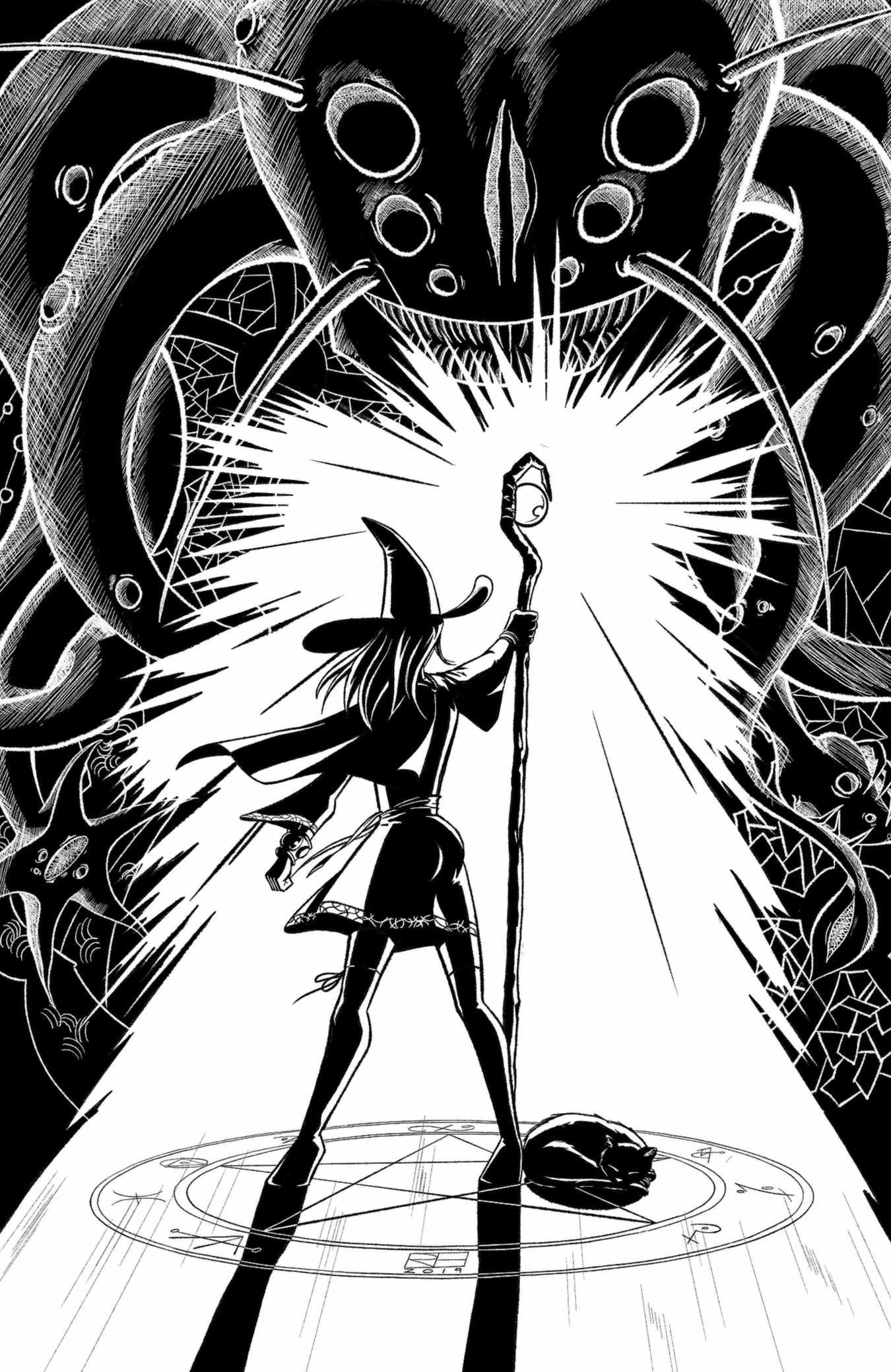 Inktober 2018 - spell (version 2)